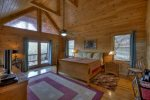 Blue Jay Cabin - Upper Level Master King Bedroom