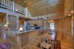 Blue Jay Cabin - Dining Area and Kitchen