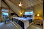 Reel Creek Lodge - Upper Level King Bedroom