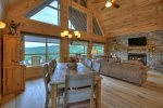Alpine Ridge - Entry Level Dining and Living Area