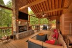Alpine Ridge - Outdoor Fireplace and Flat Panel TV