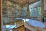 Rustic Elegance - Private Master Bathroom w/ Jetted Tub and Stone Shower