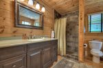 Black Bear Bungalow - Upper Level King Master Bathroom