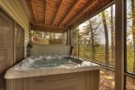 Black Bear Bungalow - Lower Level Deck with Hot Tub