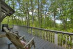 Black Bear Bungalow - Upper Deck Seating Area