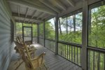 Black Bear Bungalow - Upper Deck Screened in Seating Area and