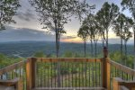 Martini Mountain Chalet - View from Upper Private Master Suite Balcony