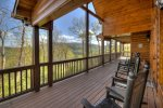 Moonlight Lodge - Back Deck and Outdoor Seating