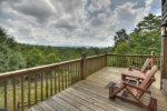 Panoramic Paradise - Entry Level Deck with Seating and Mountain View