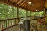 Serendipity - Entry Level Screened Deck with Games/TV/Hot Tub grill- uncovered area