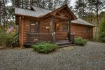 Tranquil Woods - Back Screened Porch to the Hot Tub