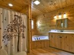 Blue Ridge Hideaway - Upper Level Attached Master Bathroom