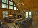Blue Ridge Hideaway - Entry Level Living Area