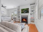 Blue Ridge Suite 1 - Plush Seating w/ Flat Panel TV Over Fireplace