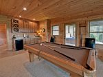 Above It All - Lower Level Pool Table