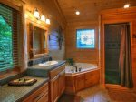 Celtic Clouds - Upper Level Bathroom