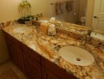 Master Bathroom with Travertine and Granite