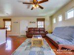 San Diego Vacation Rental - Comfy Futon and Cool Leather Couch