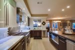 Spacious and open family kitchen