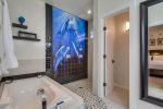 Master Bathroom with open air walk in shower