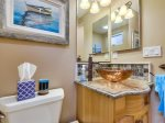Powder room in Mission Beach rental