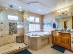 Master bathroom at beach rental