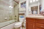 Hall bath with tub/shower combo