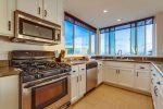 Granite counters, and stainless appliances featured