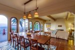 Dining room with door to back terrace and view of La Jolla Shores