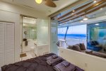 Ocean views and full privacy shades