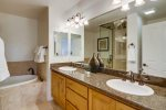 Master Bathroom with dual sink vanity