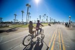 Rent bikes and cruise the boardwalk