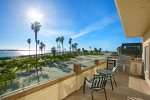 Penthouse balcony with views of the Mission Beach Jetty