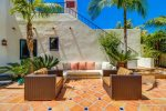 Relax in the gated private courtyard with ocean breezes