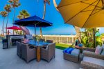 Beach front outdoor patio