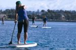 Paddleboard rentals are popular