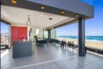 Penthouse level beach club