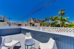 Enjoy a little sun on your Private Deck - South Mission Beach, San Diego Vacation Home