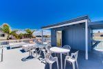 Shared rooftop deck with views of the Sea World fireworks - South Mission Beach, San Diego Vacation Rental