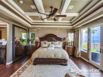 Sumptuous Master Suite with ocean views from the King-sized bed