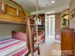 Bunk room with 4 twin beds