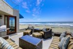 Oceanfront view deck off living area