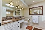 Master bath with dual sink vanity