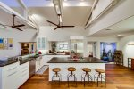 Large Open Floor Plan Kitchen with Island seating