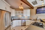 Beautiful kitchen with stainless steel appliances