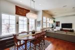 Open Floor Plan Dining area leading to the family room