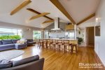 High exposed beam ceilings