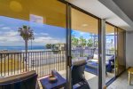 Nicely furnished ocean view balcony