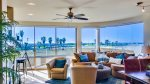 Beach view floor to ceiling windows