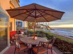 Oceanfront Patio of San Diego Vacation Rental
